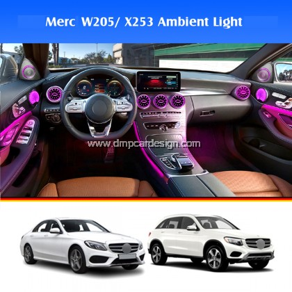 Merc C / GLC Class W205 / X253 2015-2020 Interior Ambient Light Front LED Console Turbine Style Airvent