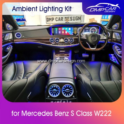 Merc S Class W222 Interior Ambient Light Front LED Console Turbine Style Airvent